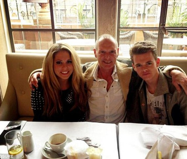 Miss Gascoigne Pictured With Her Father Paul And Brother Regan Mr Gascoigne Adopted The