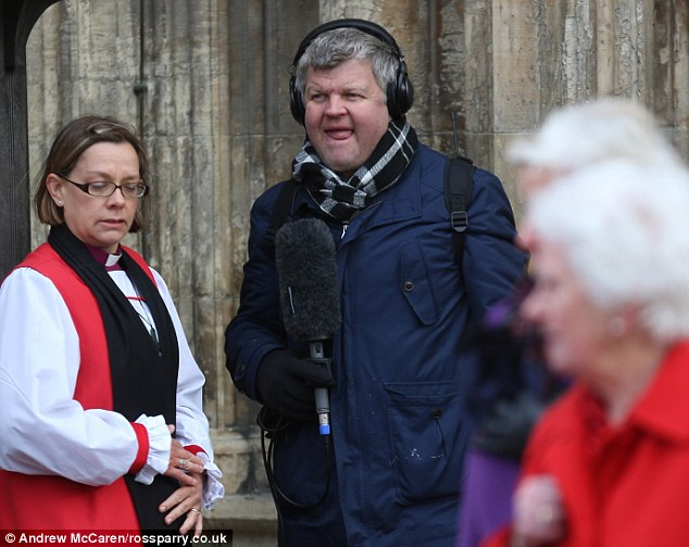 On duty: TV presenter Adrian Chiles, who was sacked as ITV's football anchor last week, was in attendance
