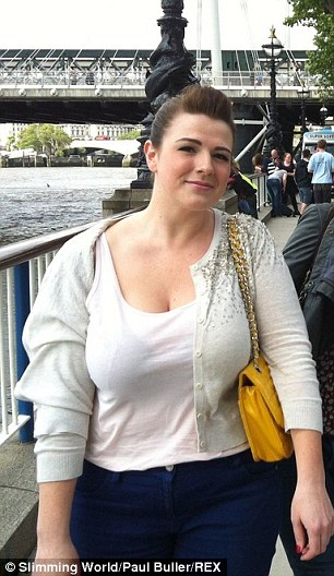 She confided in her dad and joined Slimming World a few days later