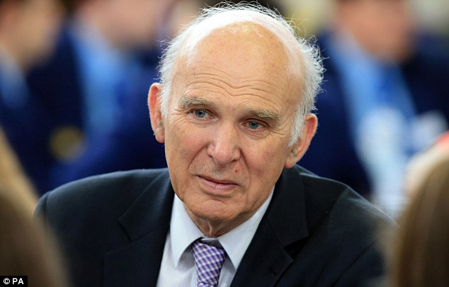 Financial crash: Voters cannot understand why the bankers who oversaw the collapse of RBS have not been pursued by prosecutors, Vince Cable (pictured, file photo) said last night