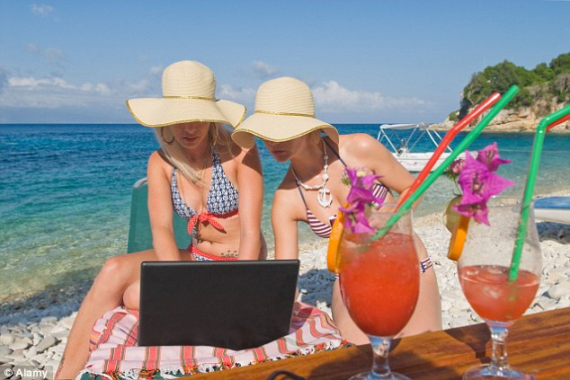 Get away from it all? No thanks: Many travellers increasingly expect to be able to browse the internet even when far from land
