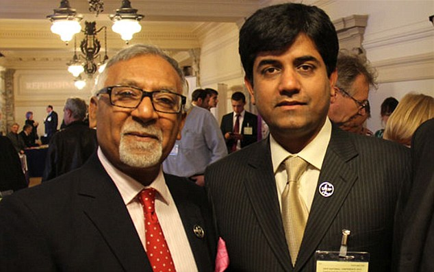 Revelation: Ukip knew about Amjad Bashir's (left) links to alleged kidnapper Mujeeb Bhutto (right) before the Tory defector became an MEP