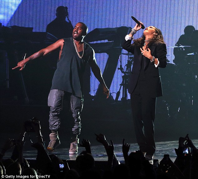 Duet: Rihanna surprised fans when she brought out Kanye West to belt out some hits with her