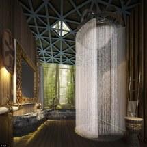 Beautiful Rain Shower Bathroom