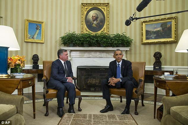 The hastily-arranged meeting took place before the Jordanian king was due to return to Amman after cutting short his U.S visit