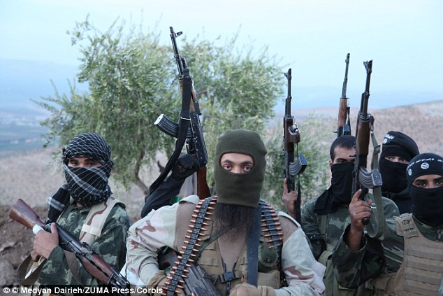 Despite the medieval barbarity of its violence, Islamic State's political game-playing is becoming more sophisticated by the day. Pictured: Rebel militant soldiers on the frontline in Aleppo, Syria