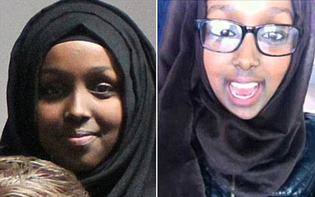 Jihadi brides: Zahra and Salma Halane, 17, left their home in Chorlton, Manchester, to join the Al-Khansa Brigade in Syria in June last year - after becoming radicalised online