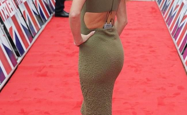 Britain S Got Talent S Amanda Holden Braless In Khaki