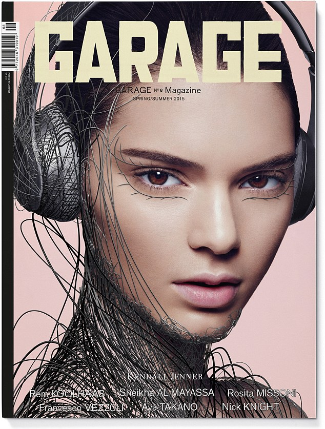 Kendall Jenner and Cara Delevinge transformed by computer animation in set of Garage covers
