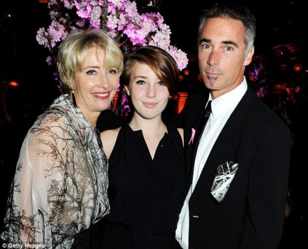 Gaia - pictured here with her famous parents Emma Thompson and Greg Wise - has decided main stream education isn't for her