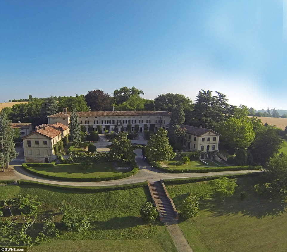 Beautiful property: Villa La Voglina in Piedmont, Italy, was built in the 18th Century by the world renowned Baroque architect Filippo Juvarra