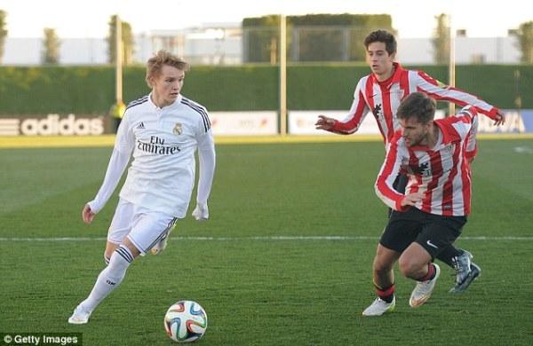 Martin Ødegaard con el Real Madrid Castilla