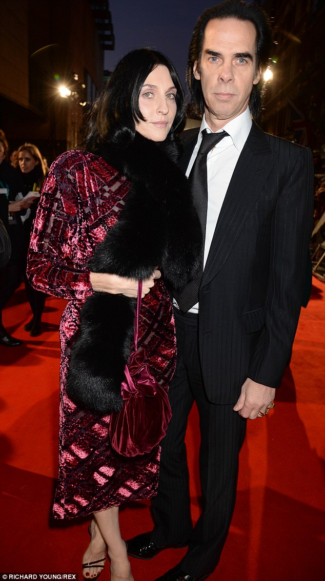 Nick Cave and wife Susie Bick bring some Gothic glamour to