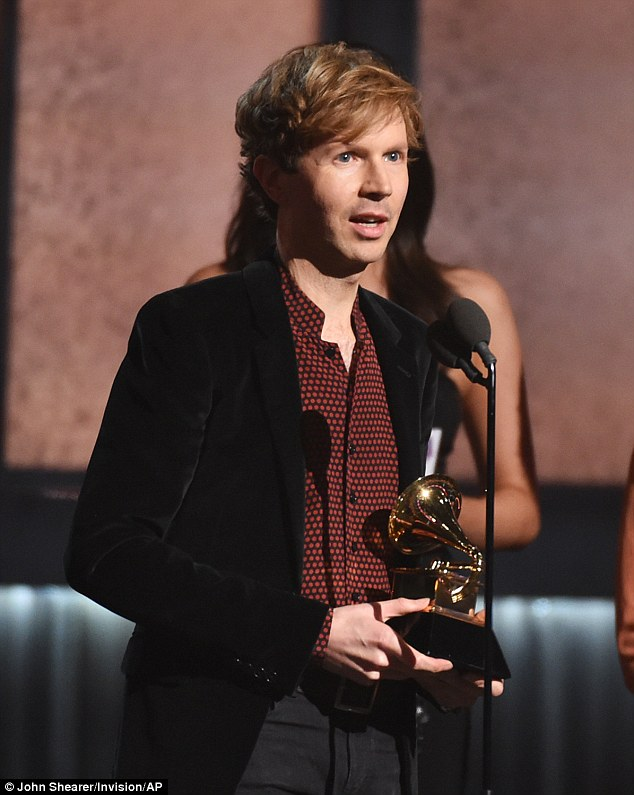 Shocked to win? Beck won the award for Record Of The Year beating the likes ofBeyoncé - and Kanye West appeared to be surprised as he momentarily stormed the stage