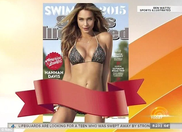 Censored: Producers likely deemed the photo too risque to reveal the full image on the morning program