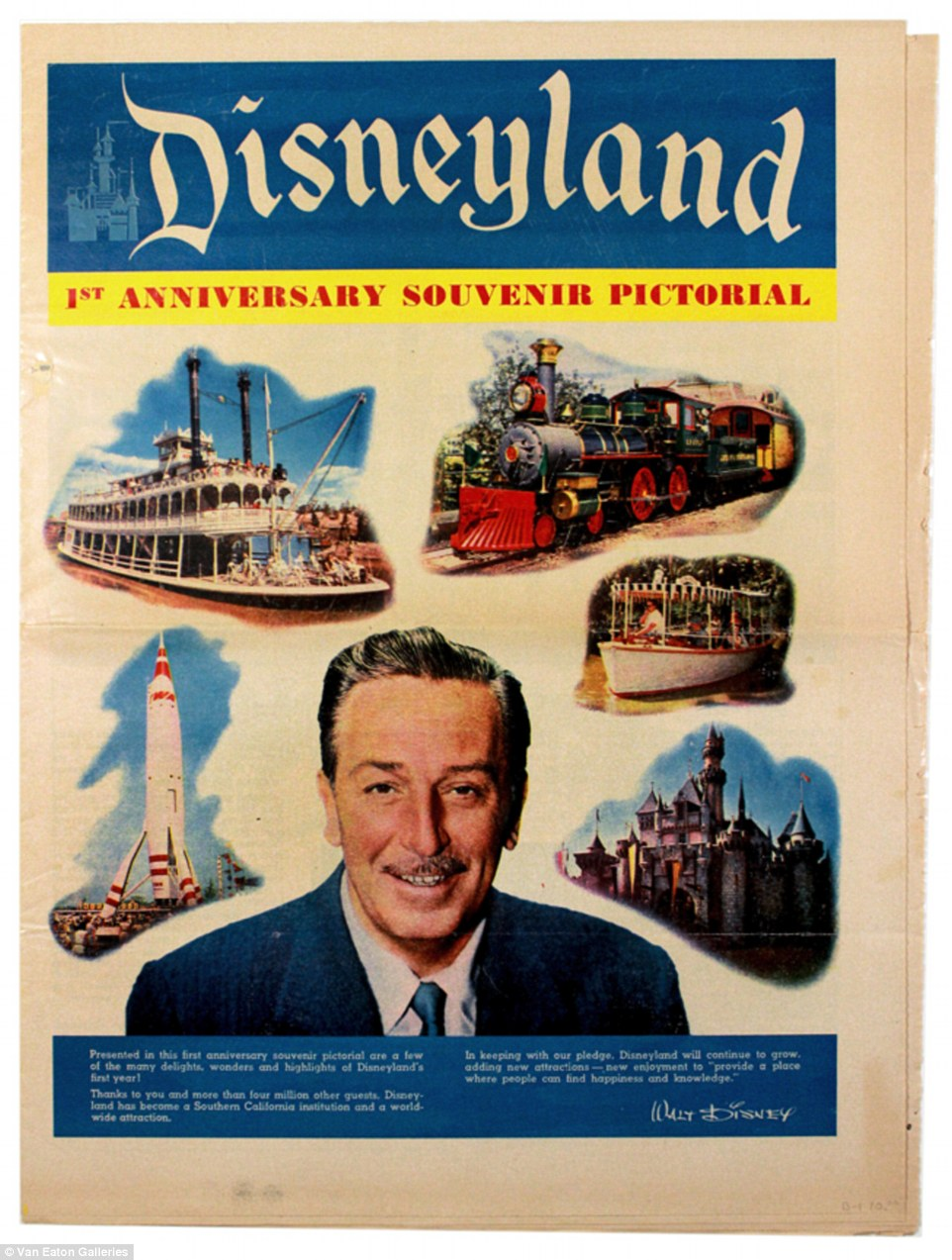 Auction Of Vintage Disneyland Memorabilia To Take Place