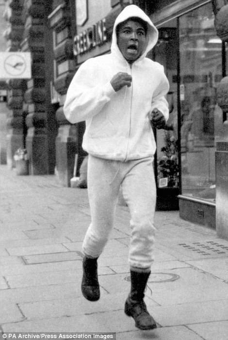 Muhammad Ali Pictured Training For His Three Fights In