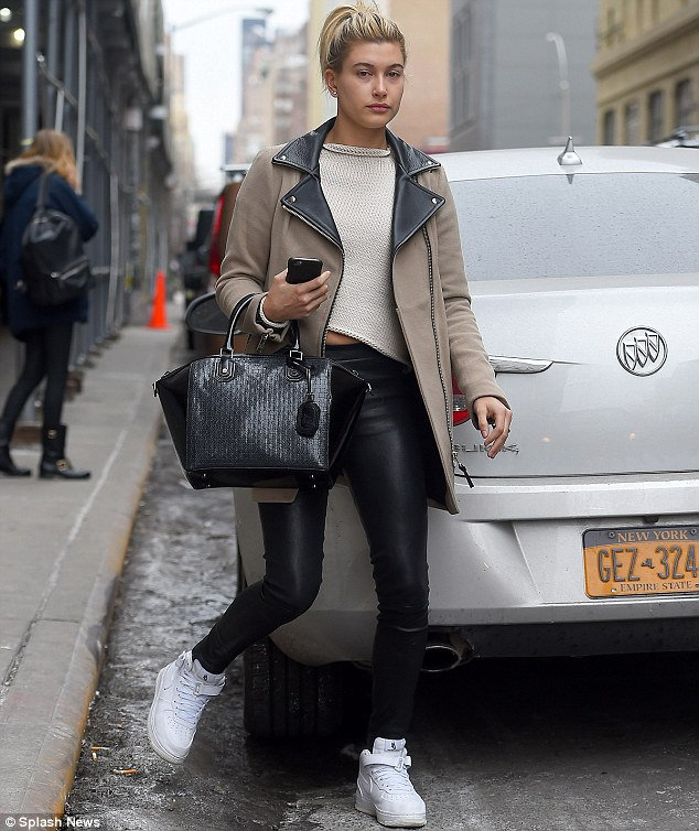 Hailey Baldwin Steps Out After Late Night With Justin