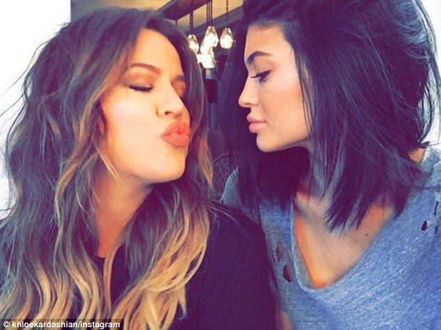 Protective: Khloe launched into a Twitter rant after hearing that Amber had slammed her little sister Kylie Jenner