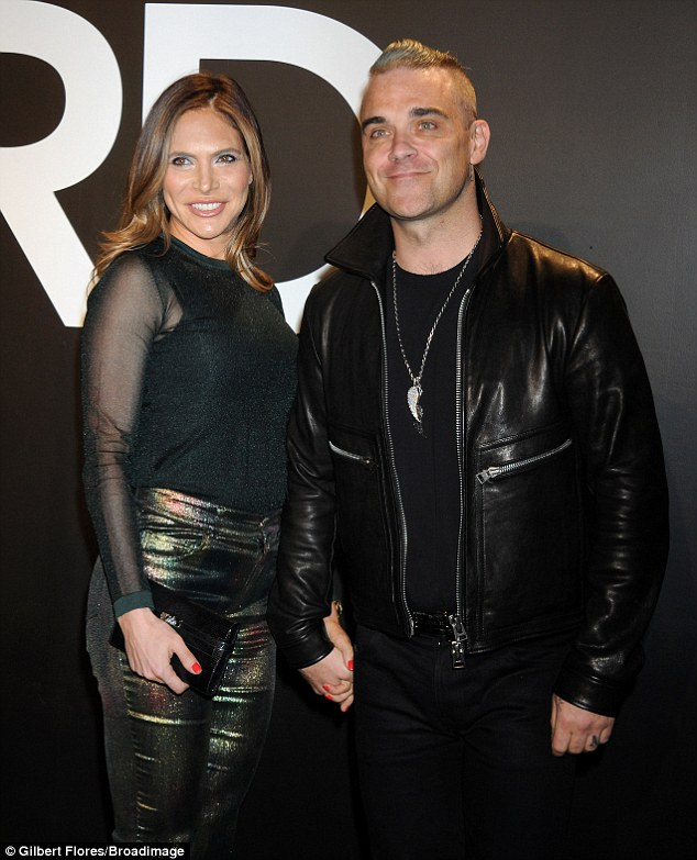 Robbie Williams Wife Ayda Field At Tom Ford Show FOUR Months After Giving Birth Daily Mail Online