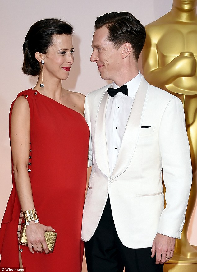 Newlyweds: They gazed into one another's eyes as they walked the red carpet together