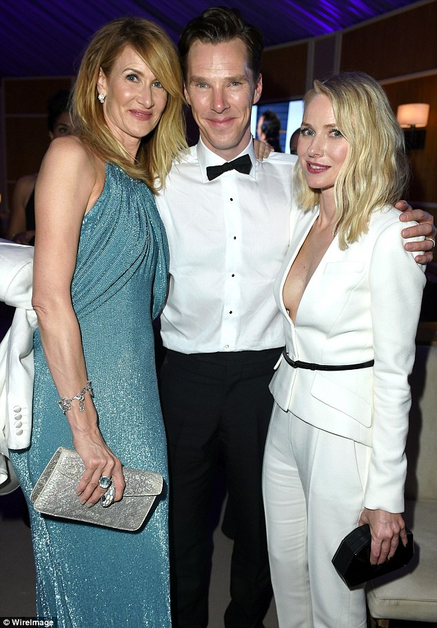 Special ladies: Benedict with (L-R) Laura Dern and Naomi Watts