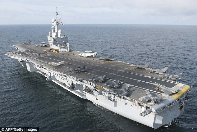 Ready: France's Charles de Gaulle aircraft carrier (pictured) has started military operations against the IslamicState in Iraq, a French army source said today