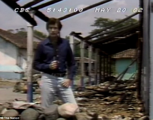 Bill O'Reilly while reporting in El Salvador for CBS News in 1982. He claimed to have seen 'nuns being gunned down' - but it appears the event he was referencing took place a year before he arrived in the country