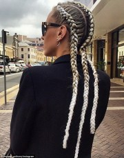 imogen anthony debuts braids woven