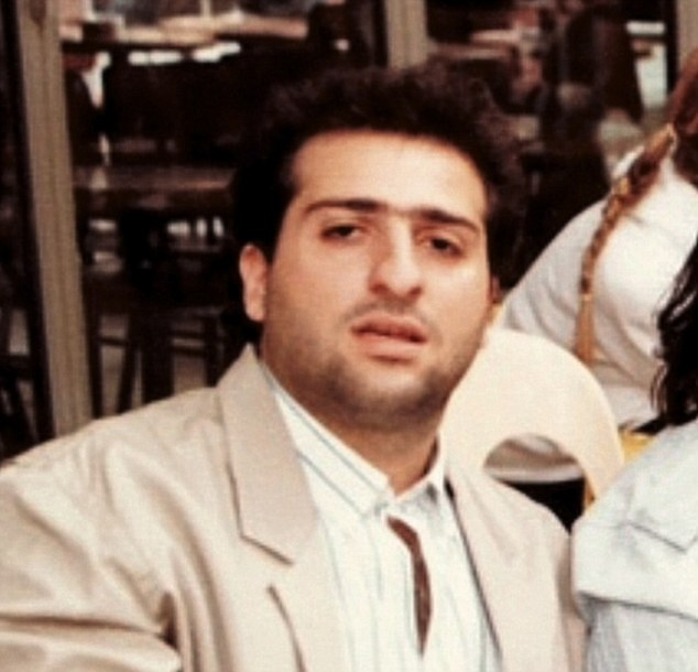 Omid as a young actor before trading in his career for a life as a comedian
