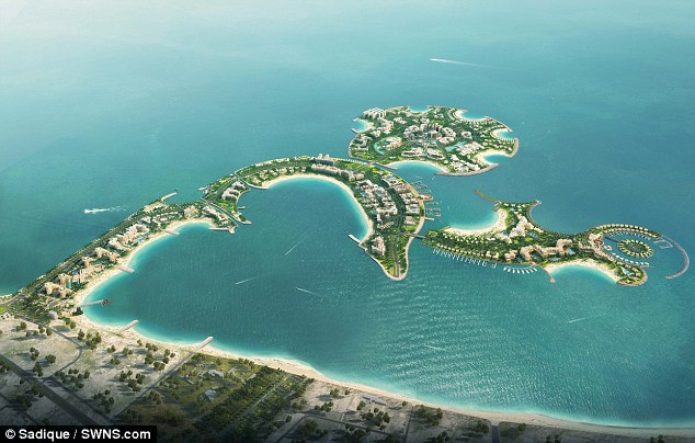 New Ibiza: An artist's impression of the planned Dubai party island ' Dream Island' where alcohol will be freely available