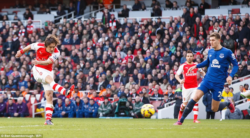 Rosicky was left in acres of space and allowed time to take aim as he made sure the points were staying at the Emirates