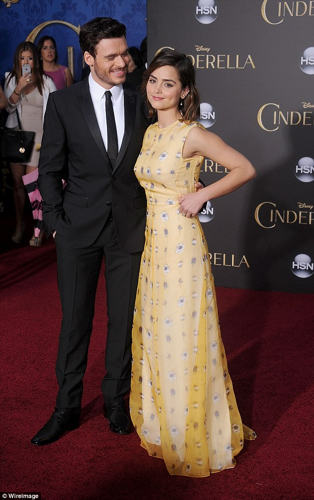 Jenna Coleman and Richard Madden attend Cinderella World ...
