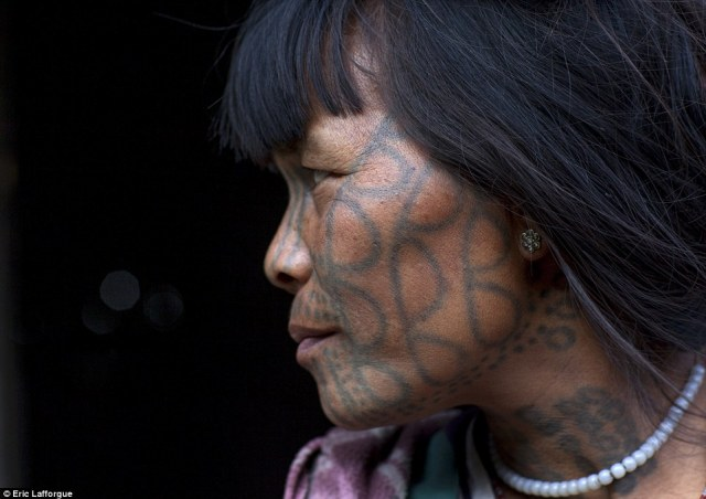 Sign of beauty: The women of the Chin, Magan and Muun tribes say facial tattoos are a sign of beauty