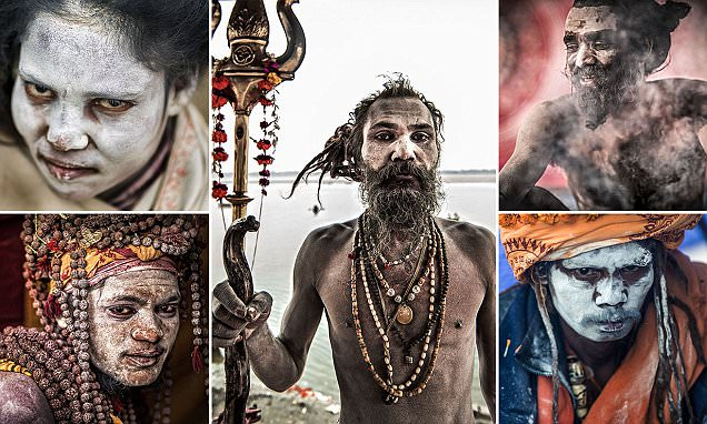 Incredible Images Show Life Of Indias Cannibal Aghori Tribe Daily Mail Online