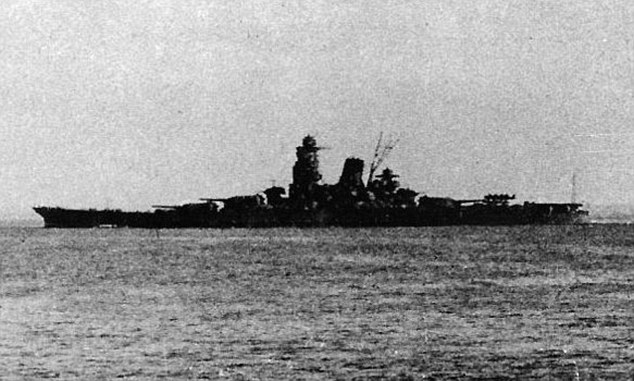 Biggest: The Musashi was the Japanese Navy's biggest battleship during the Second World War