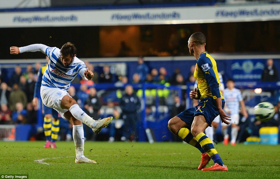 Charlie Austin scored a superb consolation goal late in the game after being given too much room by Arsenal's defence