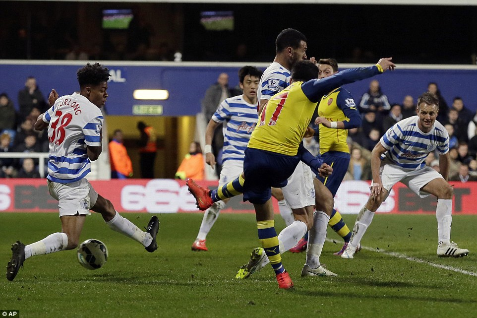 Alexis Sanchez cut in from the left hand side to score from a tight angle and end is run of eight games without a goal