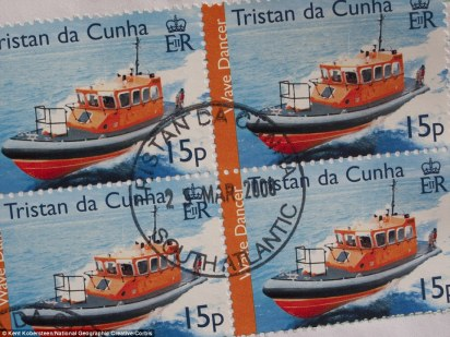 Stamp collectors pay significant amounts for the rare Tristan da Cunha stamps, another major source of revenue for the town