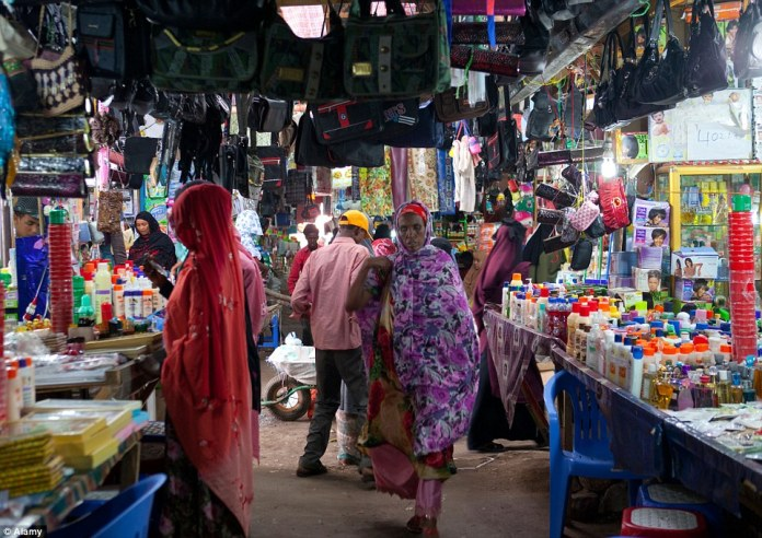 The busy market in Somaliland's capital has a diverse assortment of goods from around Africa and the world