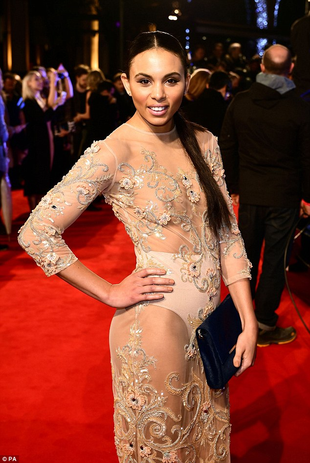 The Jumps Louise Hazel wears sheer dress at Insurgent