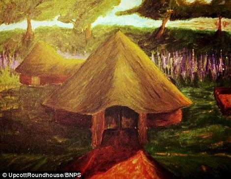 Fille Lizzie a fait des croquis de ce que la cabane pourrait ressembler, qui ressemblent remarquablement similaire au produit final