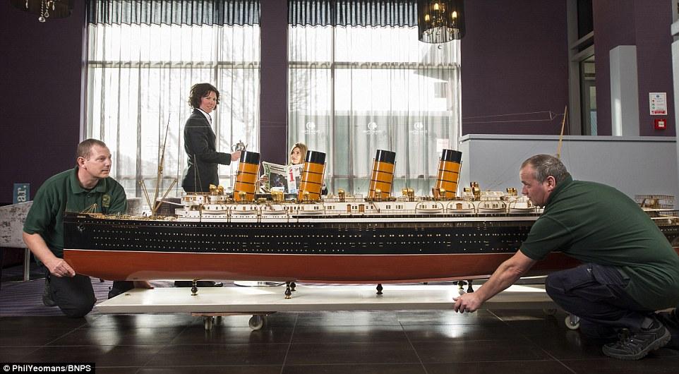 Model Of Ocean Liner RMS Mauretania On Sale For 50000