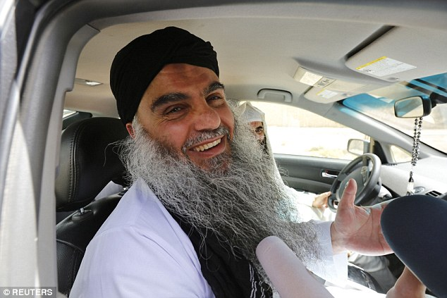 Battle: Muslim cleric Abu Qatada, described as Al Qaeda's spokesman in Britain, was finally returned home in 2013 after a 12-year legal battle which cost taxpayers millions