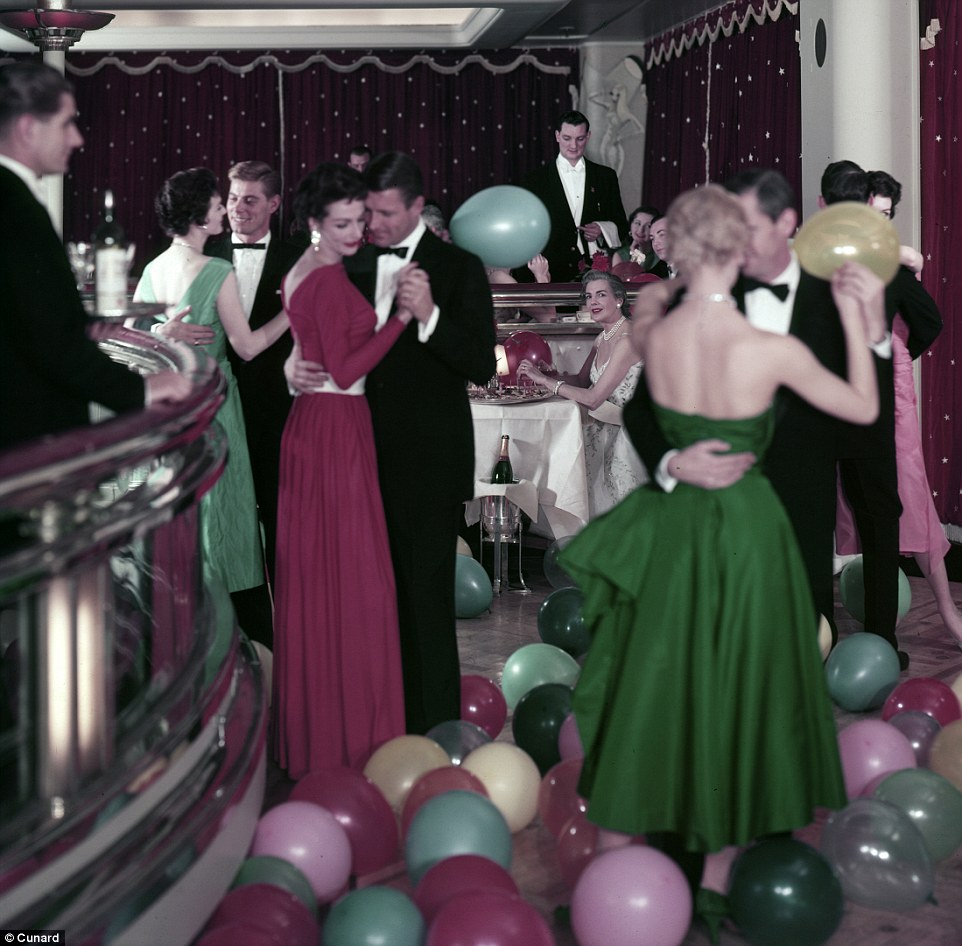 The balloon dance was held on every voyage on Cunard ships from the 1920s to the early 1960s