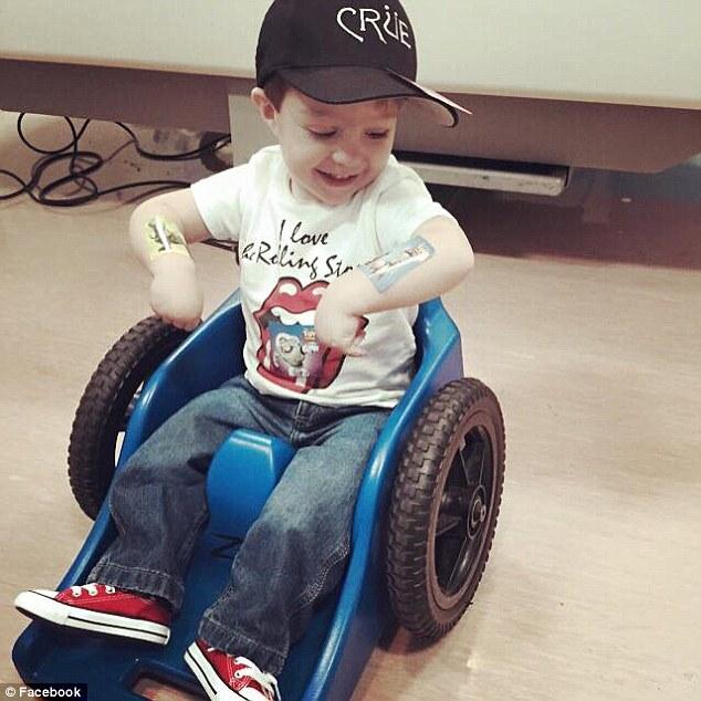 Crue Allred denied wheelchair by Anthem Blue Cross who