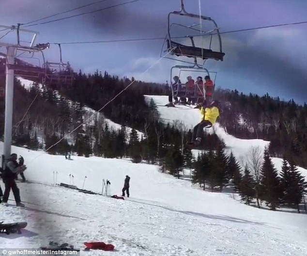 ski chair lift malfunction green resin adirondack chairs seven people injured after at sugarloaf resort evacuation three were taken to hospital the king pine began operating in