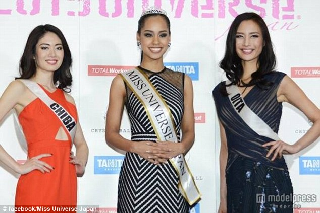 Miyamoto is aware of the struggles she faces as a 'hafu' beauty queen representing Japan. It is one of the least ethnically diverse countries on earth, proudly counting more than 98 percent of the population as Japanese nationals