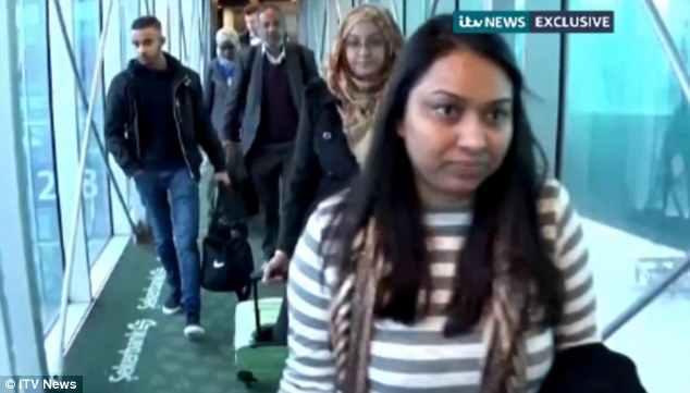 Familiar route: The families, along with ITV's Rohit Kachroo, flew in to Istanbul from Gatwick