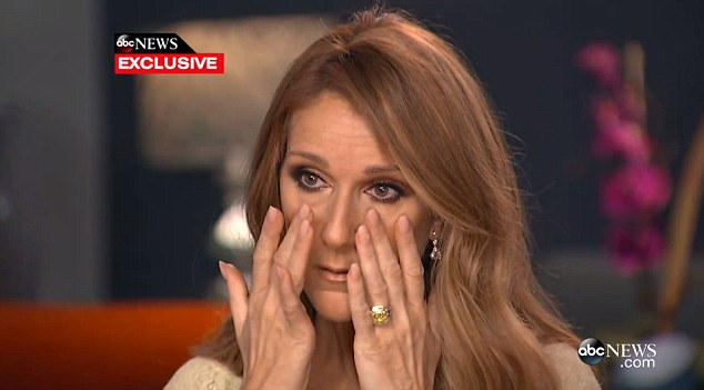 Celine Dion breaks down in tears in interview about nursing husband through throat cancer